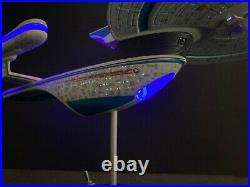 PRO BUILT USS Excelsior NX-2000 1/1000 Scale Prop Replica Star Trek LED LIGHTING