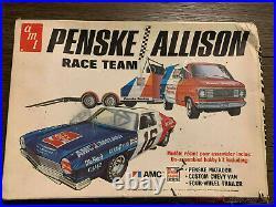 Penske Allison Race Team AMC Matador AMT 1/25! VINTAGE RARE Chevy Van Trailer