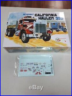 Plastic model kits trucks amt #866 peterbilt california hauler new sealed box