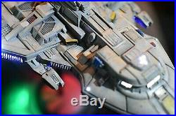 Pro Built LED Lighted withstand Star Trek Voyager MAQUIS ship Movie model