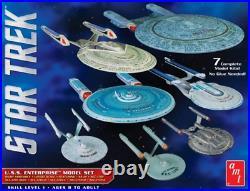 R2AMT954 AMT Star Trek U. S. S. Enterprise Box Set 12500 Scale Snap Model Kits