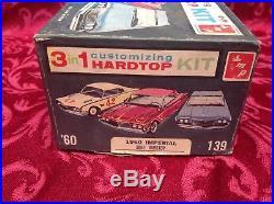 RARE AMT 1960 Chrysler Imperial HARD TOP 3 In 1 Model Kit