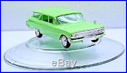 RARE LIME GREEN AMT Jr. Trophy Series 1960 Chevy Nomad Wagon Model Built withBox