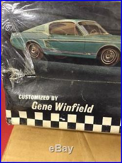 Rare Unbuilt Vintage Amt 1967 Custom Fastback Mustang By Gene Winfield