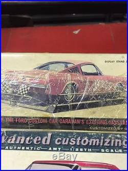 Rare Unbuilt Vintage Amt 1/25th 1965 Custom Fastback Mustang By Goerge Barris