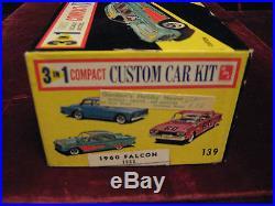 RARE UNOPENED VTG 1960 Ford Falcon 3in1 Model/Kit AMT USA 1060 Time Capsule Kept