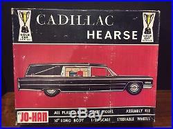 RARE VINTAGE 1/25 Scale 1966 Cadillac JO-HAN Hearse Model Kit UNBUILT REVELL AMT