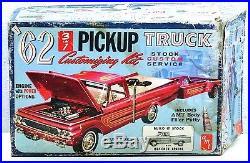 RARE Vintage AMT'62 Chevrolet Apache Pick-up Truck w Trailer Model Kit K732-200