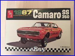 RARE Vintage AMT Model #6627-200 1967 Camaro SS 350
