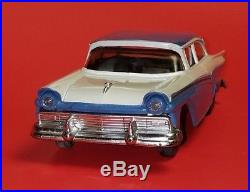 Rare 1957 Ford Custom 300 Friction Promo Car Blue & White Amt