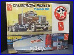 Rare AMT Peterbilt 359 Tractor/Reefer Trailer Set, 1/25 Scale Kit Factory Sealed