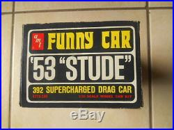 Rare Amt 53 Studebaker Awb Funny Car