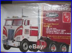 Rare Sealed AMT Big Rig Set Budweiser Peterbilt 352 Pacemaker 1/25 Fruehauf