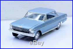 Rare Vintage AMT 1962 K-7022 NOVA Pro Built Stock Car Model Detailed with Box