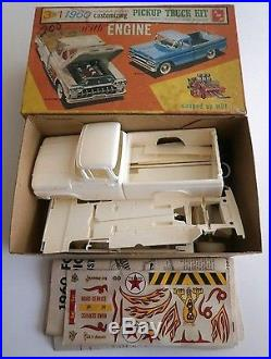 Rare Vintage AMT 3 In 1 1960 Ford F 100 Pickup Truck Trailer Model Kit WithBox