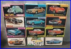 Rare Vintage AMT Mini 1/43 Scale (12 Car Lot) Mini Model Car Kit