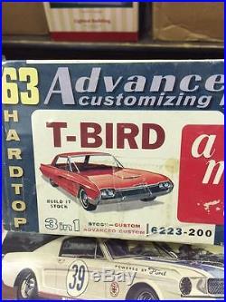 Rare unbuilt AMT 3n1 advanced kit 1962 Thunderbird 100% complete. WOW LOOK