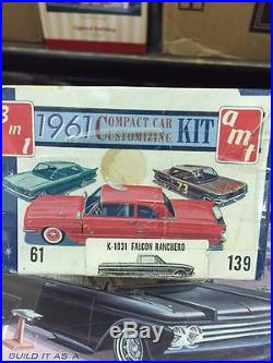Rare unbuilt AMT 3n1 kit 1961 Ford Falcon Ranchero 100% complete. WOW LOOK
