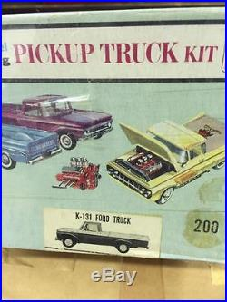 Rare unbuilt AMT 3n1 kit 1961 Ford Truck with Trailer 100% complete. WOW LOOK