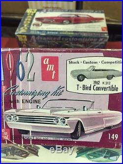 Rare unbuilt AMT 3n1 kit 1962 Thunderbird Convertible 100% complete. WOW LOOK