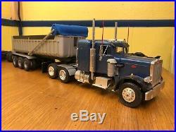 Revell 1/25 Peterbilt 359 Truck Custom Built With Gravel Trailer Vintage Model