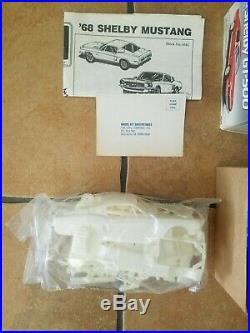 Revell & AMT 1/24 (4) model Kits Corvette 63 & 60 Mustang 66 Shelby GT-500 car