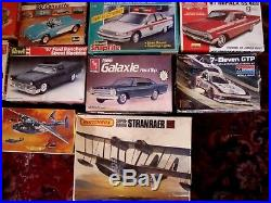 Revell Amt Nsra 1/25 Scale 21 Model Lot 18 Cars 1 Robot & Plane Ect Orig. Boxes