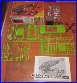 Revell Boss Mustang Funny Car F/C Drag Kit #H-1209 Unbuilt in Box 1970 Issue