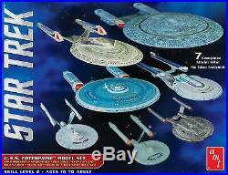 Round 2 AMT 954 12500 Scale Star Trek U. S. S. Enterprise Box Set Snap Model Kits