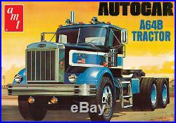 Round 2 AMT No. 1099 125 Scale Autocar A64B Tractor Model Kits Car