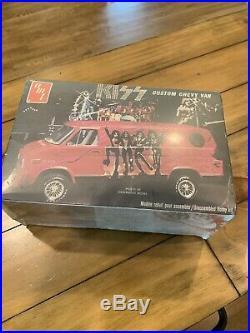 SEALED! NEVER OPENED Rare 1977 KISS Band Custom Chevy Van AMT Model KitUnbuilt