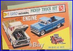 SMP 1960 Chevrolet Apache Pickup Truck & Trailer 3-in-1 Kit Chevy AMT in Box 60