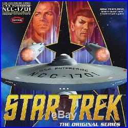 STAR TREK CLASSIC ENTERPRISE 1701 1/350 SCALE 50th ANN EDITION KIT by AMT ROUND2