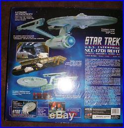 STAR TREK ENTERPRISE 1701 REFIT 1/350 SCALE 50th ANN EDITION KIT by AMT / ROUND2