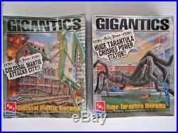 Sealed! 1996 Amt Ertl Model Kits Set Of 2 Gigantics Tarantula & Praying Mantis