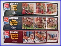 Sealed! 1996 Amt Ertl Model Kits Set Of 3 Gigantics Scorpion Tarantula Mantis