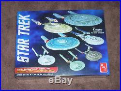 Star Trek Enterprise 7 Ship Boxed Set 1/2500 Scale Amt Round2
