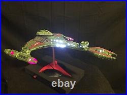 Star Trek TNG Klingon Vor'cha Battle Cruiser Model AMT 1/1400 BUILT + LIGHTS