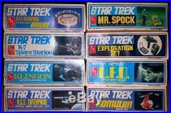 Star Trek TOS AMT Models Lot of 8 Enterprise Exploration Set Interplanetary UFO