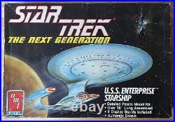 Star Trek USS Enterprise 1701-D 1400 Scale Model Kit AMT/Ertl 6619 Complete