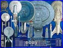 Star Trek U. S. S. Enterprise Box Set Model Kit Snap Assembly AMT954 12500 Scale
