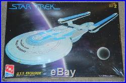 Star Trek U. S. S. Excelsior StarShip Plastic Model Kit AMT/ERTL 1994, SEALED MIB