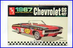 Super Rare Vintage AMT 1967 Chevy SS 427 Convertible 1/25 Model Car Kit 6717-200