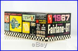 Ultra Rare Vintage AMT 1967 Ford Fairlane GT 1/25 Scale Model Car Kit 5167-170