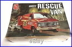 Unbuilt original AMT Chevy Rescue Van 1/25 scale model kit T516-300 NEW SEALED