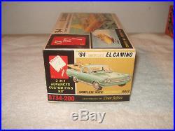 VINTAGE 1964 AMT 3 in 1 CHEVELLE EL CAMINO BOAT MODEL CAR KIT #6734-200 ORIGINAL