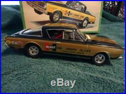 VINTAGE 52 year old AMT 1966 HURST HEMI UNDER GLASS funny car from 1967