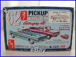 Vintage Amt 1962 Ford F-100 Pickup Truck With Trailer Customizing Model Kit