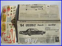VINTAGE AMT 1964 CHEVROLET IMPALA SS HARDTOP 3 in 1 CUSTOMIZING MODEL KIT 6724