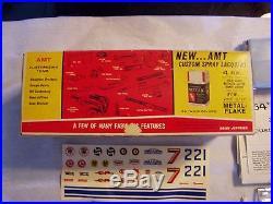Vintage Amt 1964 F-85 Cutlass Box Parts & Decals & 1964 Valiant Signet Promo Car